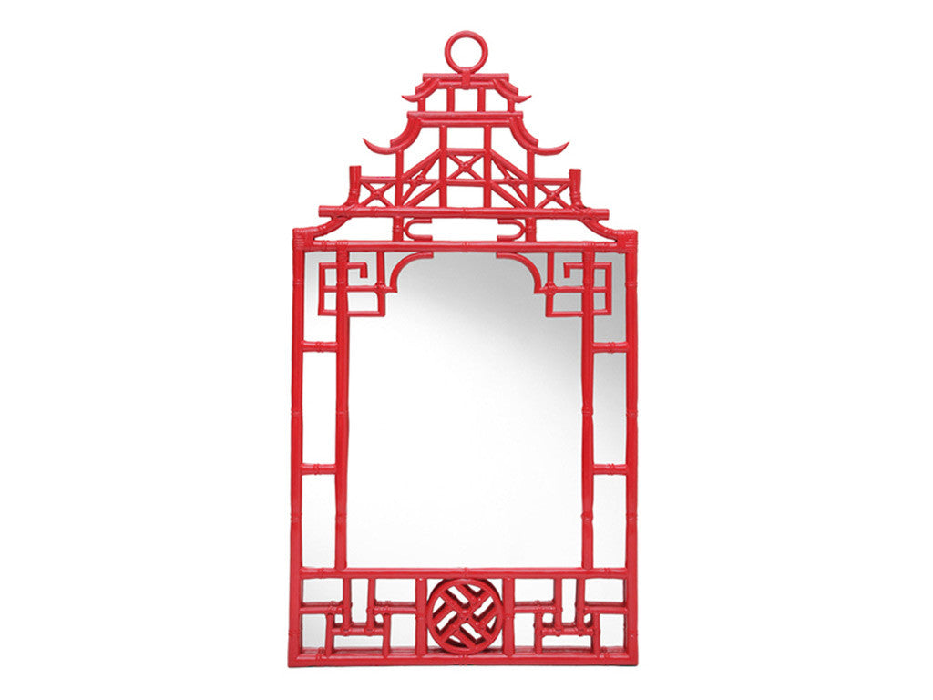 Chinoiserie Mirror / Red