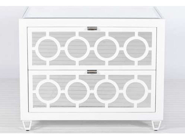 Barkley Bedside Cabinets / White Lacquer