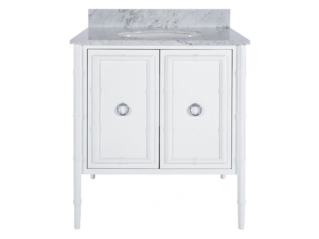 Jane Bath Vanity / White & Nickel