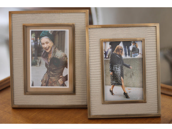 Bronze & Leather Photo Frames