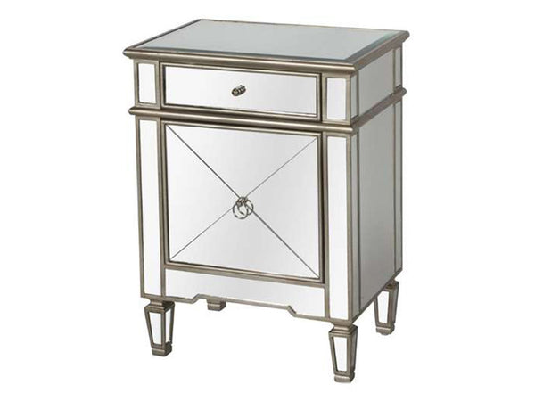 Claudette Side Table / Silver