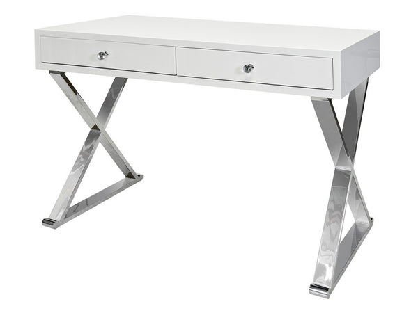 Jared Desk / White & Silver