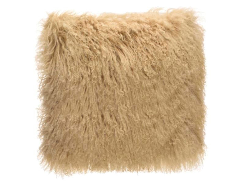 Tibetan Fur Cushion / Tan
