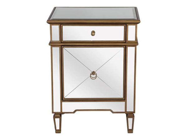 Claudette Side Table / Gold