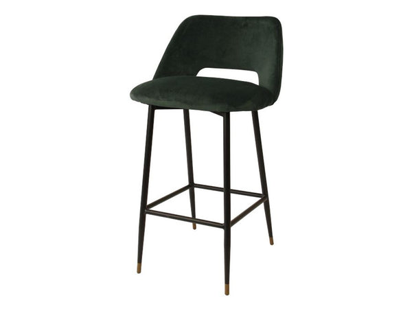 Milan Bar Stool / Dark Green