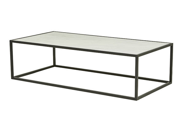 Westley Marble Coffee Table / Black & White