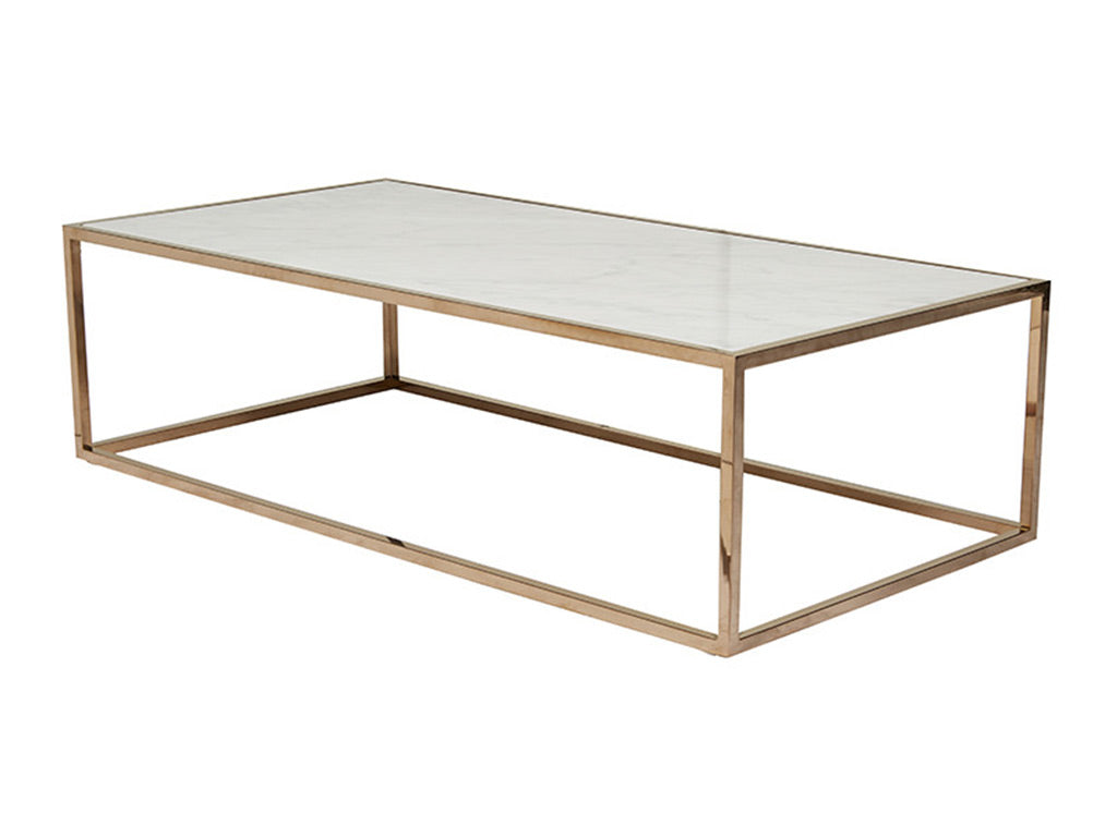 Westley Marble Coffee Table / Gold & White