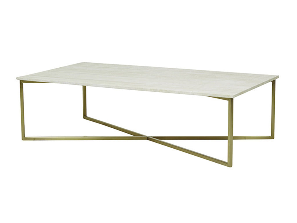 Westley Coffee Table / White & Gold