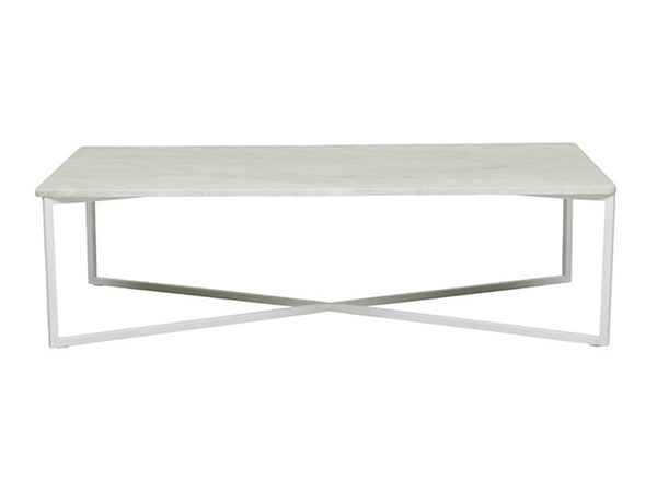 Elle Coffee Table / White & Silver
