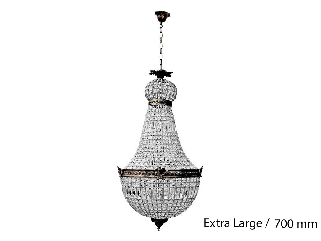 French Basket Chandelier / Extra Large