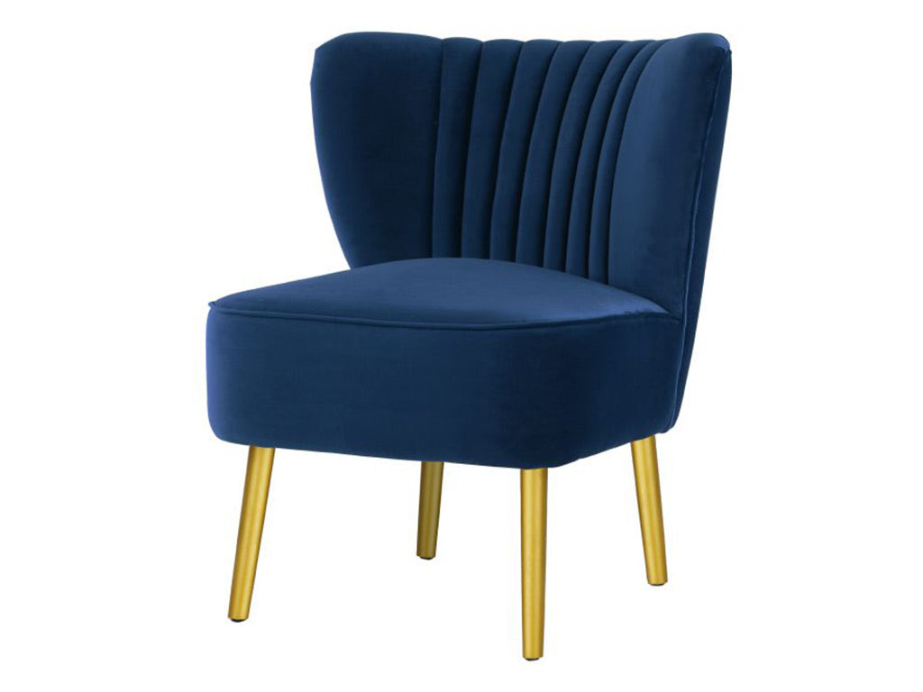 Matilda Chair / French Navy / Gold Legs