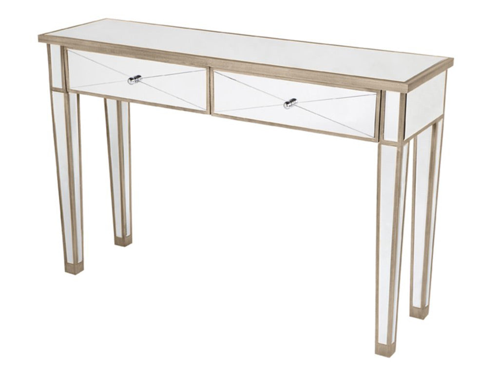 Antonia Console Table / Antique Gold