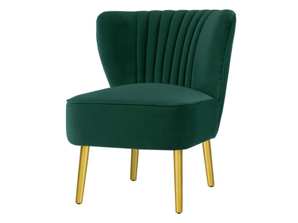 Matilda Chair / Ivy Green / Gold Legs