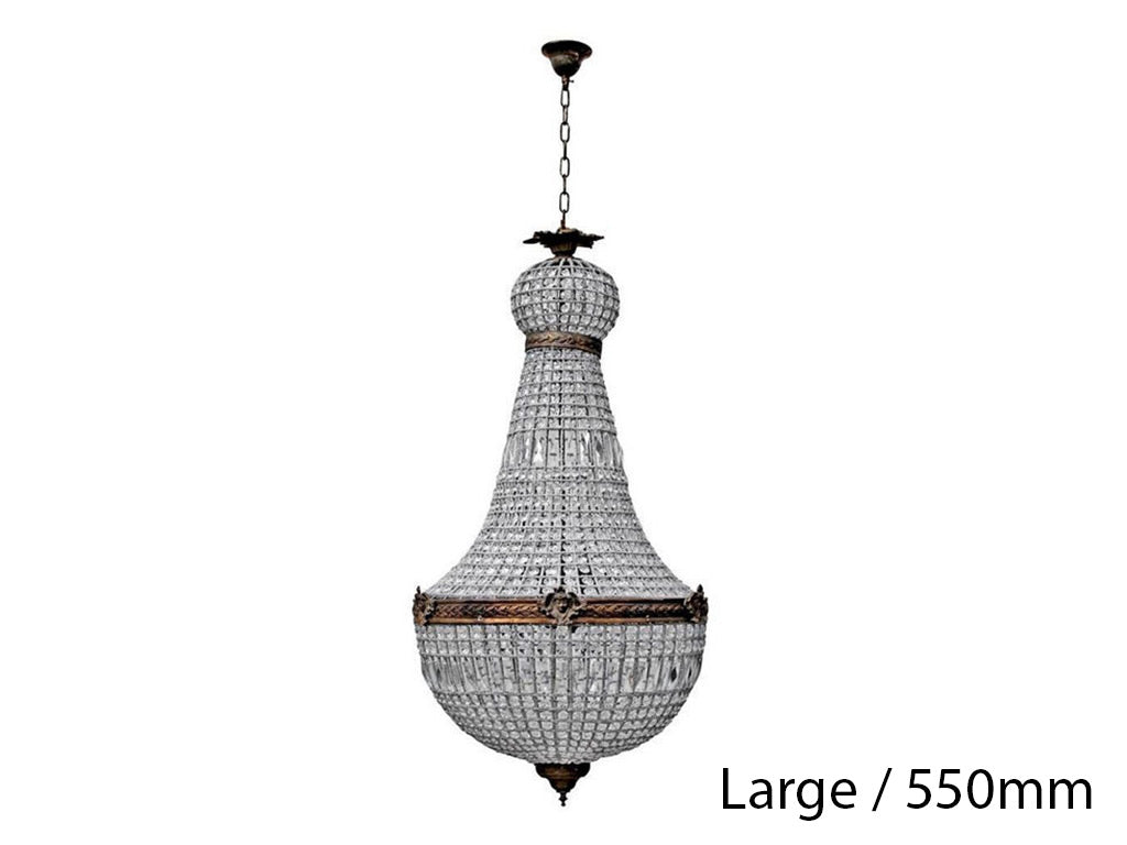 French Basket Chandelier / Large