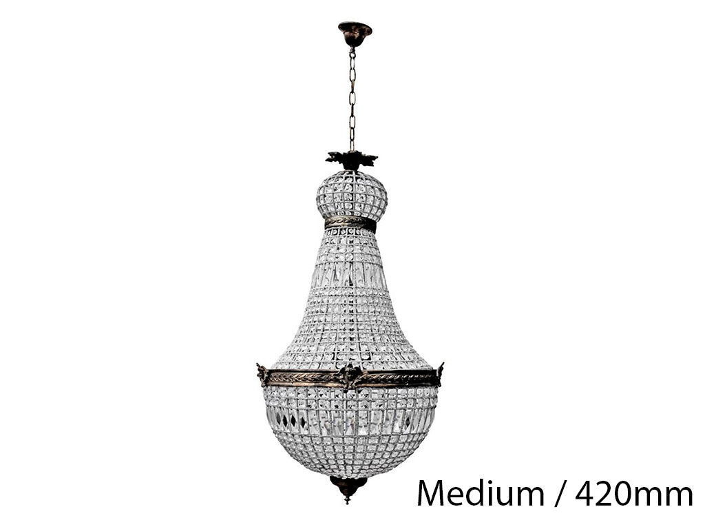 French Basket Chandelier / Medium