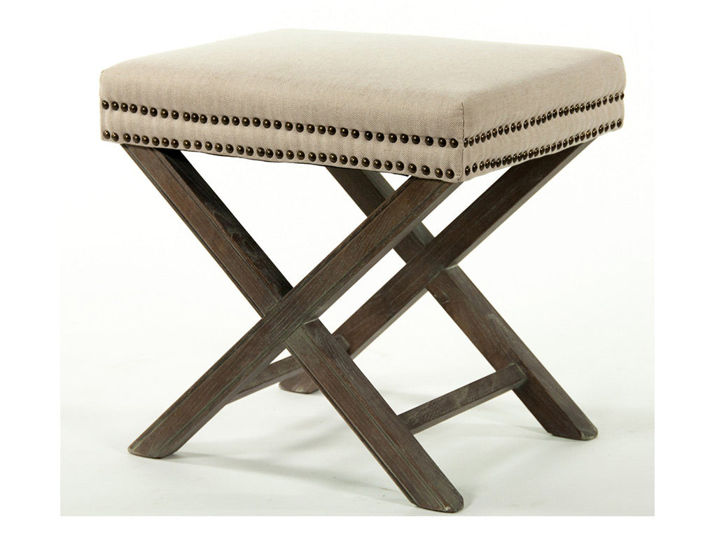 Olympia Low Stool / Natural Linen