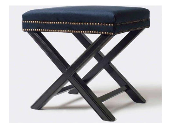 Olympia Low Stool / Navy Velvet