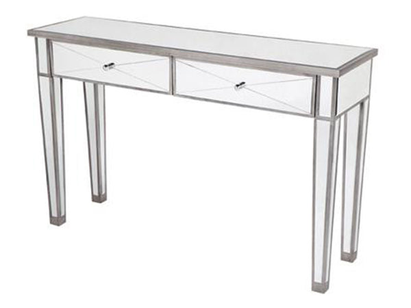 Antonia Console Table / Antique Silver