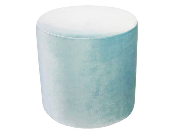Eugene Small Ottoman / Ice Blue