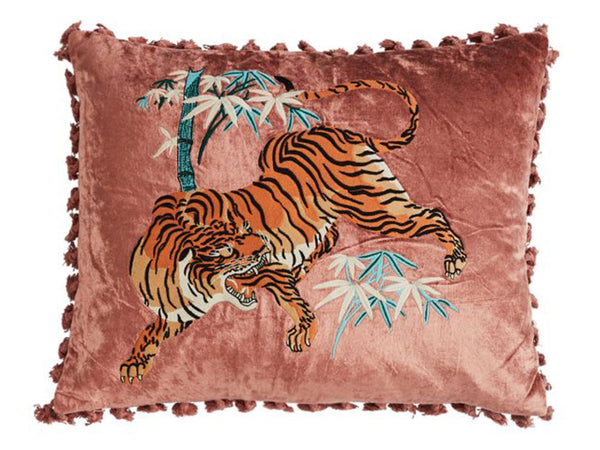 Tiger Cushion / Pink Clay