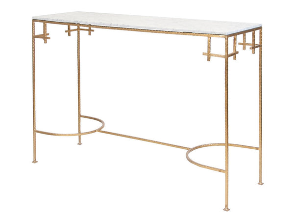 Marcy Console / Gold & White