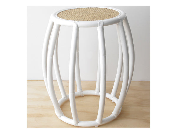 Drum Side Table / White