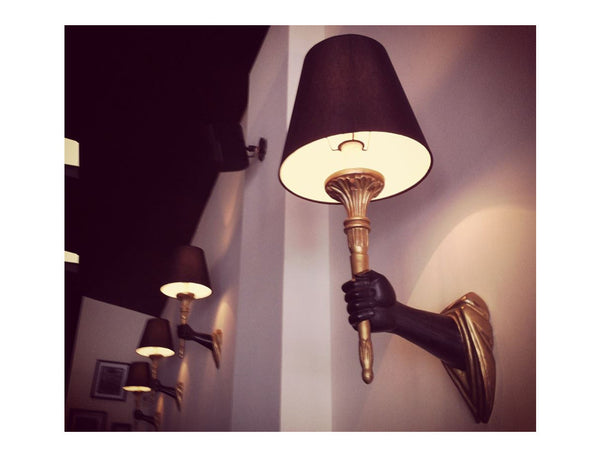 Wall Light / Hand Holding Torchiere