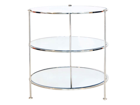 3 Tier Side Table / Silver
