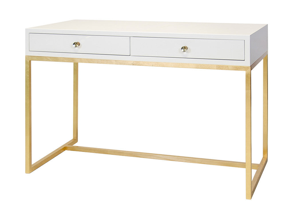 William Desk / Gold & White
