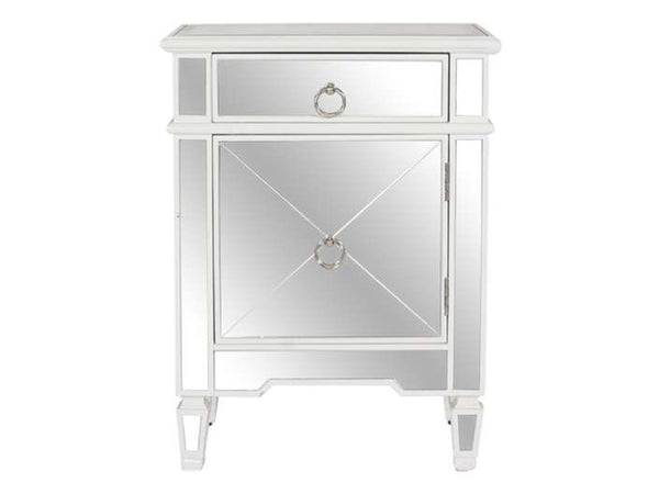 Claudette Side Table / White