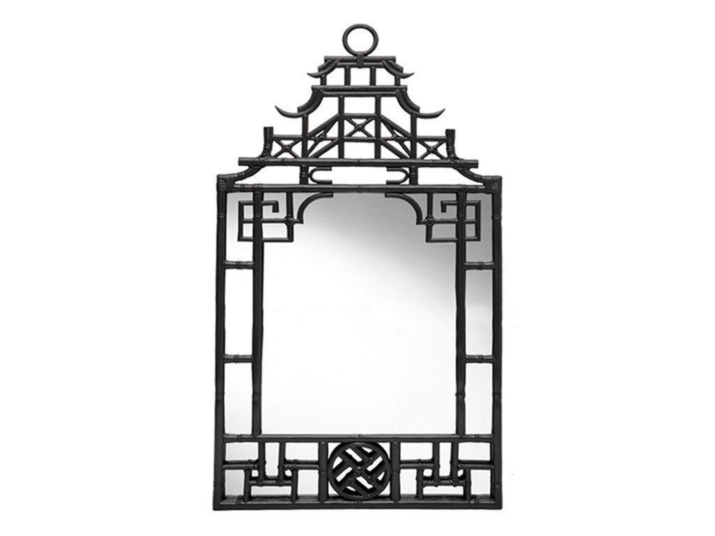 Chinoiserie Mirror / Black