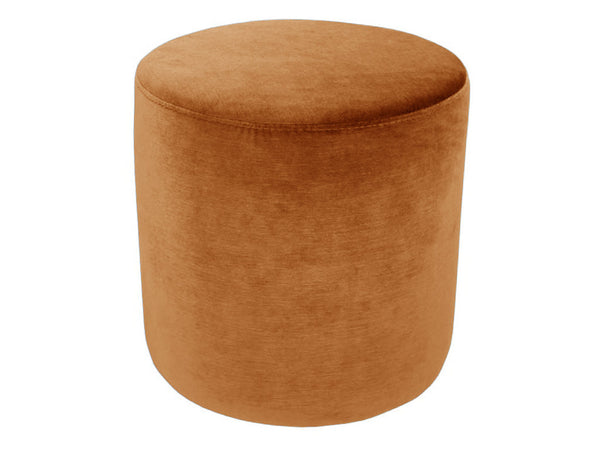 Small Velvet Ottoman / Burnt Orange