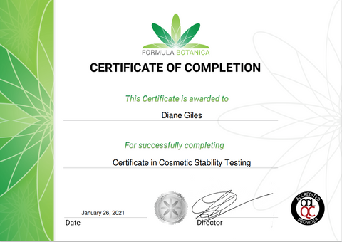 Certificate in Cosmetic and Skincare Stability Testing