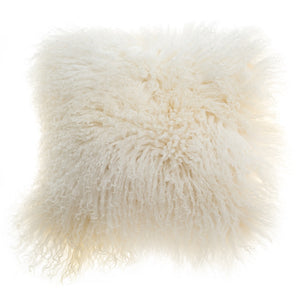 Natural Mongolian Lambswool Cushion 40cm deLadonica
