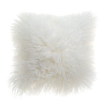 Load image into Gallery viewer, deLadonica Mongolian Lambswool Cushion 40 x 40cm White Pop