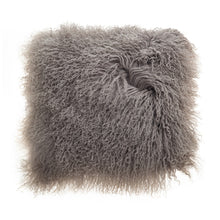 Load image into Gallery viewer, deLadonica Mongolian Lambswool  Cushion 40 x 40cm Grey