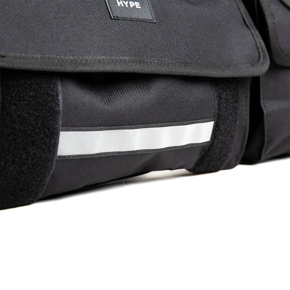 Seasonal Reflective Switch Sling Pouch Bag | Black