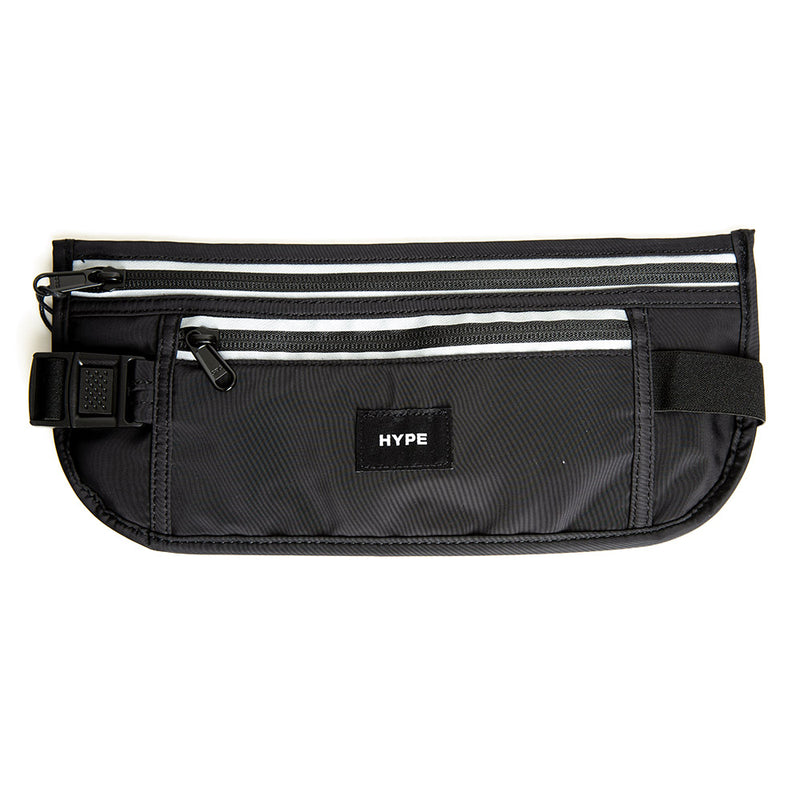 Seasonal Reflective Travel Money Belt | Black