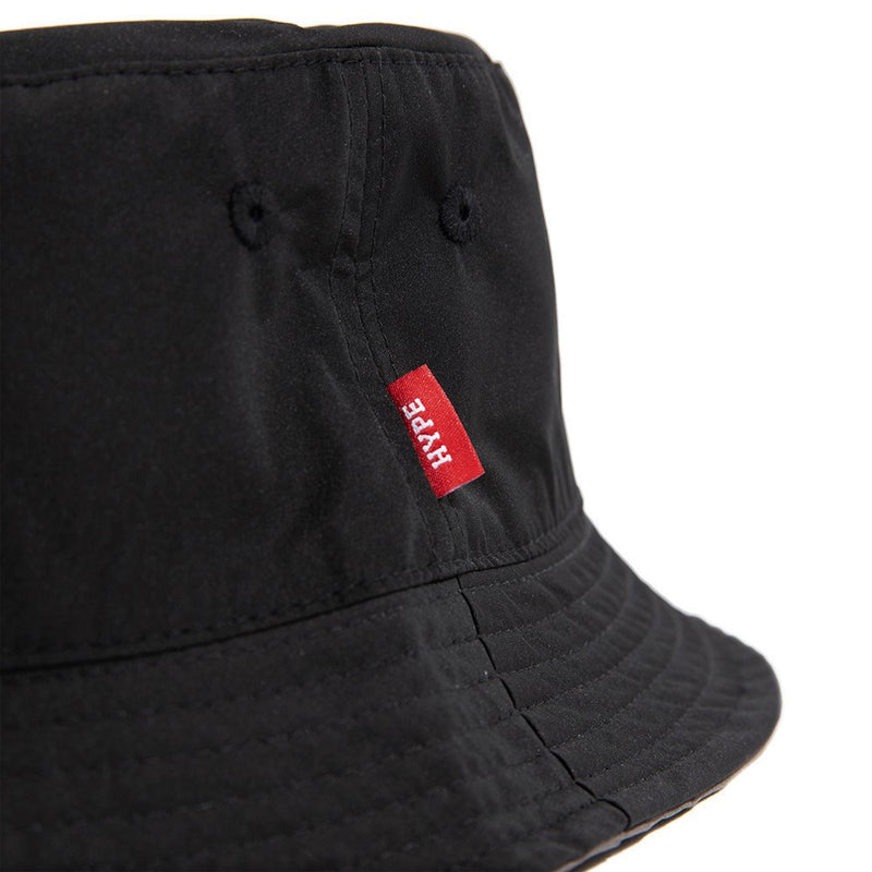 Signature Square Label Reversible Duo Sides Bucket Hat | Black / Grey