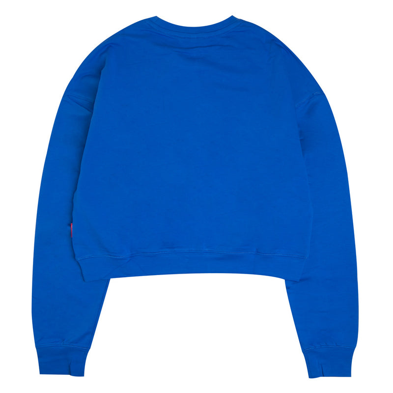 Capsule Women Penetration Oversized Long Crop Sweatshirt | Blue