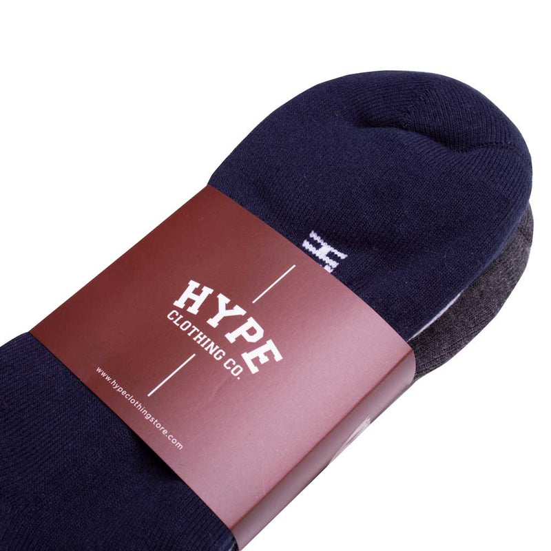 3 In 1 Ankle Socks | Navy/Grey/White