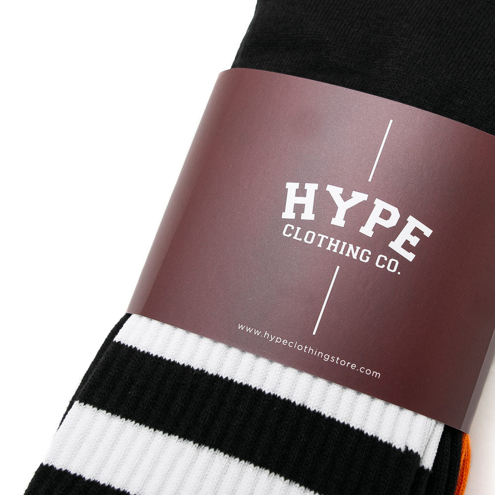 3 In 1 Long Socks | Black/Grey/Orange