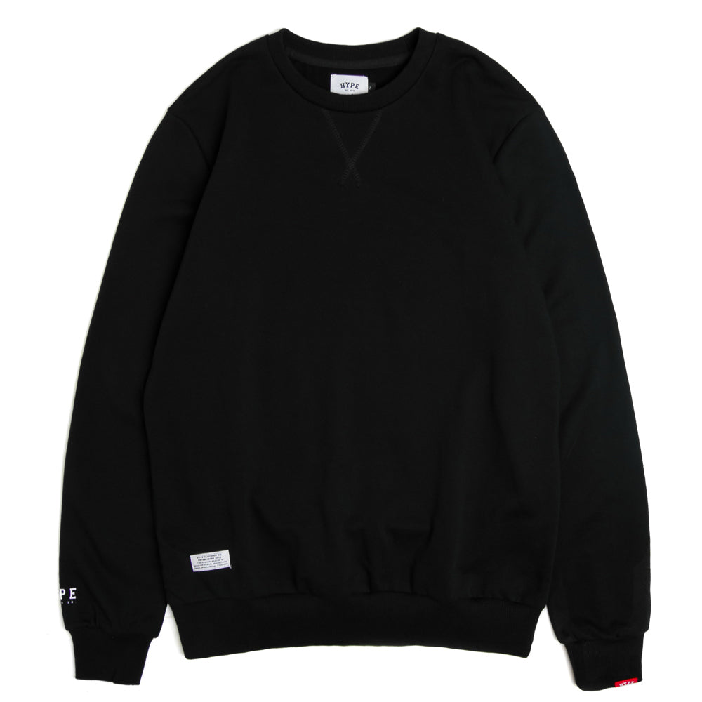 Basic Crewneck Sweater | Black