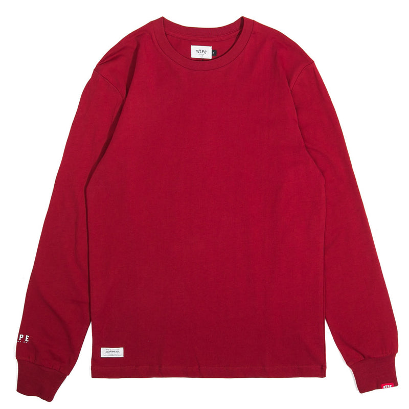 Basic Long Sleeve Tee | Maroon