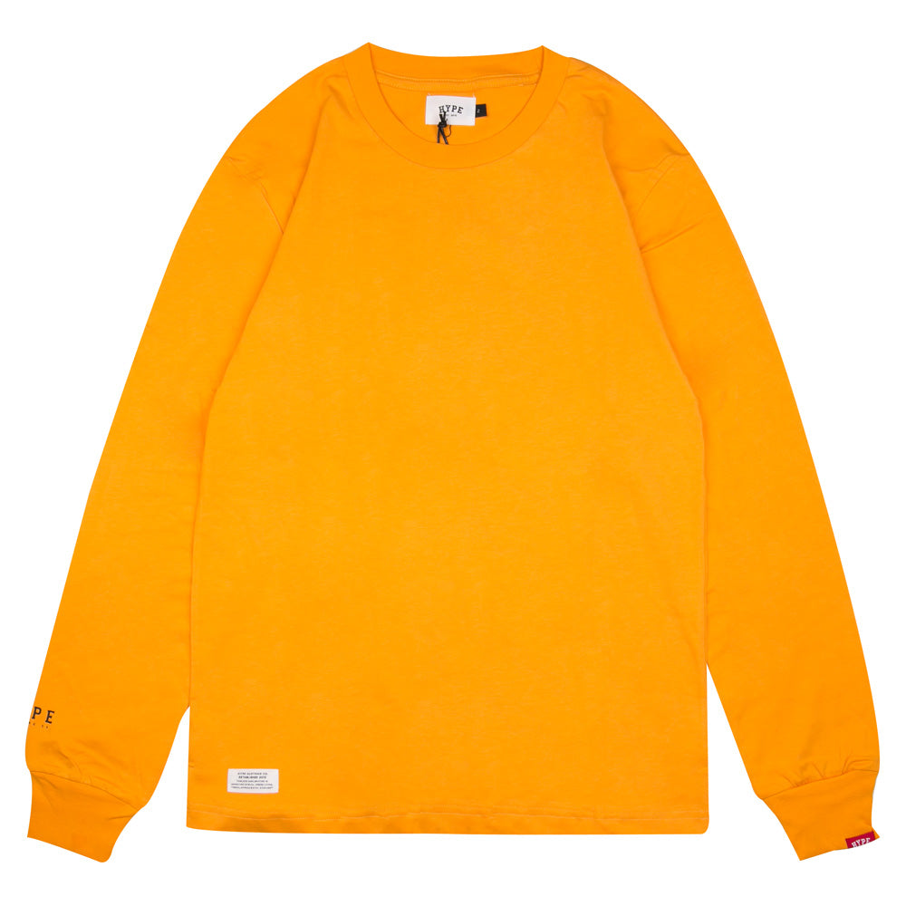 Basic Long Sleeve Tee | Mustard