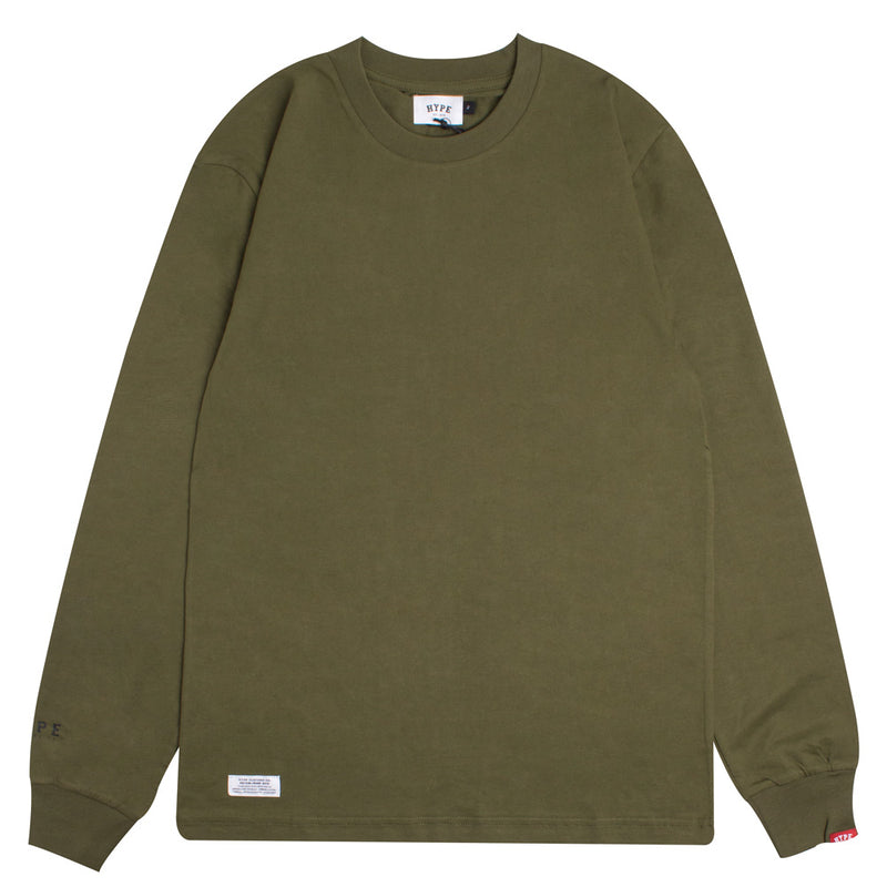 Basic Long Sleeve Tee | Olive