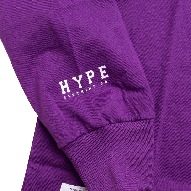 Basic Long Sleeve Tee | Purple