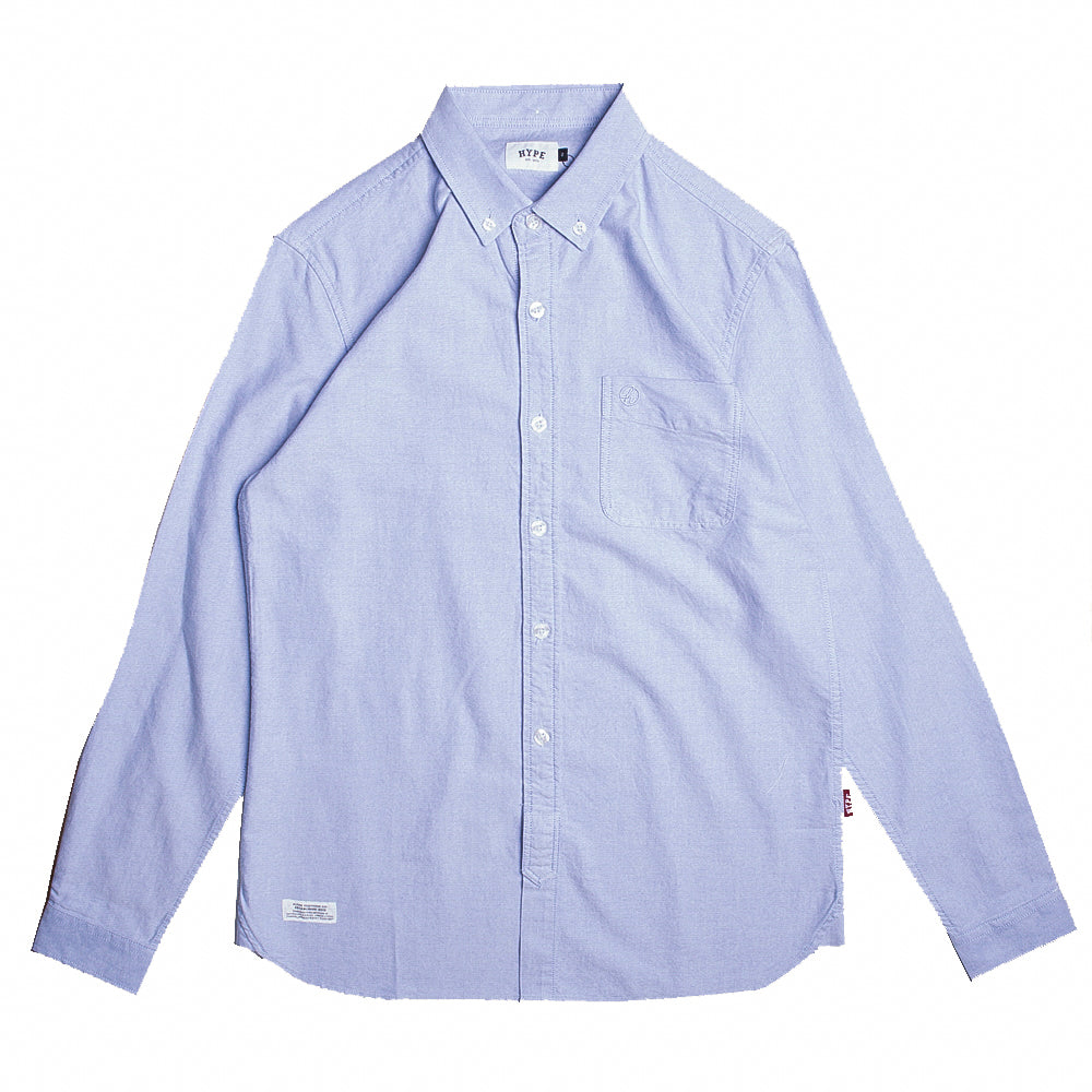 Basic Oxford Long Sleeve Shirt | Blue