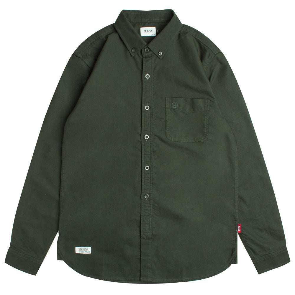Basic Oxford Long Sleeve Shirt | Olive