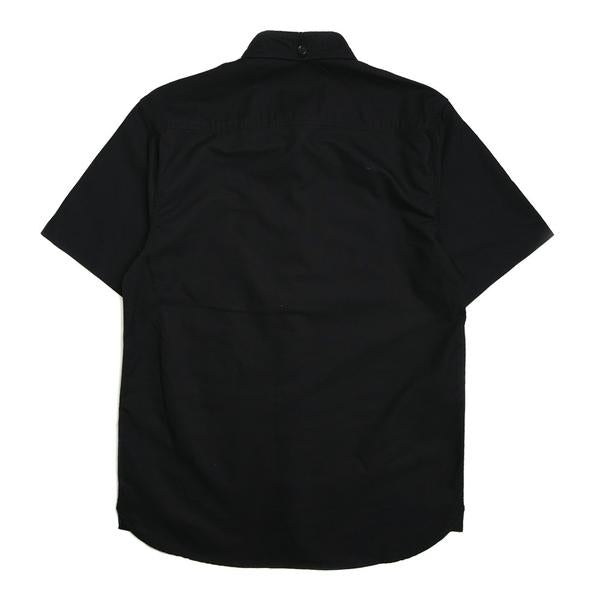 Basic Oxford Short Sleeve Shirt | Black